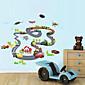 Wall Stickers Wall Decals, Children Auto Orbit PVC Wall Stickers 3204