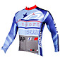 ILPALADINO Cycling Jersey Men's Long Sleeves Bike Jersey Top Quick Dry Ultraviolet Resistant Breathable Compression Lightweight Materials 3204
