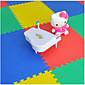 Children Crawling Mat Puzzle Mat 50  50 Foam Mat Floor Mat Baby Bag Stitching Random Color 4 Tablets. 3204