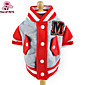 Cat Dog Sweatshirt Red Yellow Blue Pink Gray Dog Clothes Winter Spring/Fall Color Block Fashion Sports 3204