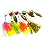 4 pcs Hengjia Metal Spinner Baits 14.8g  Floating Fishing Lures 3204