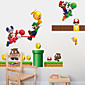 Wall Stickers Wall Decals Style Mario PVC Wall Stickers 3204
