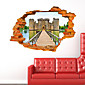 3D Wall Stickers Wall Decals Style Ancient Castle Fashion Personality Creativity PVC Wall Stickers 3204