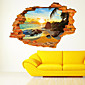 3D Wall Stickers Wall Decals Style Beach Sun Fashion Creative PVC Wall Stickers 3204