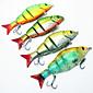 MX Hard Bait Four-section Minnow Crankbait 120mm/20g 4Pcs Fish Hook Fishing Tackle Fishing Lure Set 3204