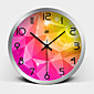 Creative Stereo Vision Super Mute Metallic Wall Clock 3204