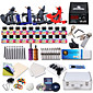 Dragonhawk Professional Tattoo Kit 4 Clasical Machines s Power Supply with Free Gift of 20 Tattoo Inks 3204
