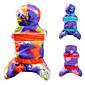 Cat / Dog Coat / Sweatshirt / Clothes/Jumpsuit Orange / Blue / Purple Dog Clothes Winter Cosplay 3204