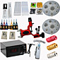 Red Dragonfly Tattoo Machine Kits Power Supply/ Rotary / 20 Needles/ 8 Tips/ 7 Inks Professional Supply 3204