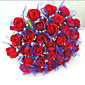 36 Heads Signature Long Stem Red Rose Alstro Bouquet, Home Office Decoration 3204