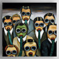 Oil Painting People With Masks  Hand Painted Canvas with Stretched Framed 3204