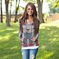 Women's Print Multi-color Hoodies , Print Hooded Long Sleeve 3204