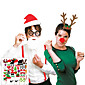 50 pcs Party Props Photo Booth Props Wedding Birthday Photo Booth Props for Christamas 3204