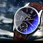 Luxury Brand Fashion Faux Leather Blue Ray Glass Men Watch 2015 Quartz Analog Business Wrist Watches Men montre homme Cool Watch Unique Watch 3204