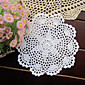 20pcs/Lot 20cm Round Handmade Crochet Embroidery Table Mat Wedding Decoration 3204