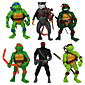 6Pcs Teenage Mutant Ninja Turtles Action Figures Classic Collection Toy Set Boy Hight 3204