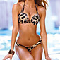 Women's Sexy Leopard Print Straped Bikinis / Beachwear / Swimsuit 3204