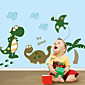 7008 Green Dinosaur Wall Stickers for Windows Dining Room Kid Room Girl Room Decorations Wall Decals Wall Art Cartoon 3204