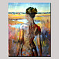 Hand-Painted Beauty Nude Back Abstract Portrait Modern Oil Painting , Canvas One Panel With Frame Ready to Hang 80x120cm 3204