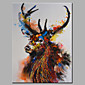 Oil Painting Modern Abstract  Pure Hand Draw Ready To Hang Decorative The Deer  Oil Painting 3204
