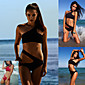 Women's Halter One-pieces , Solid Wireless / Padded Bras Polyester / Spandex Red / Black 3204