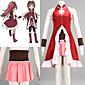 Inspired by Puella Magi Madoka Magica Kyoko Sakura Anime Cosplay Costumes Cosplay Suits Patchwork RedBreastplate / Skirt / Dress / 3204