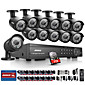 Annke 16CH 1080P DVR CCTV Outdoor IR Home Security Camera System with 2TB Hard Drive 3204