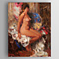 Oil Painting Impress People Nude Woman Hand Painted Canvas with Stretched Framed 3204