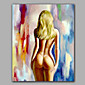 Sexy Back Nude Girl With Golden Hair Framed Design 3204