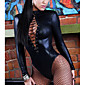 Women Sexy Lingerie Long Sleeve Bandage Catsuit 3204