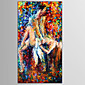 Hand-Painted People / Nude / Abstract PortraitEuropean Style / Modern One Panel Canvas Oil Painting For Home Decoration 3204