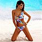 Women's Bandeau One-pieces , Floral Wireless / Padded Bras Spandex / Modal Multi-color 3204