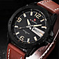 Men NAVIFORCE watch Quartz Waterproof Sports Watch Calendar Genuine Leather Wristwatch (Assorted Color) Wrist Watch Cool Watch Unique Watch 3204