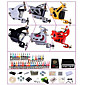 Professional Tattoo Kit KW06B 6 Machines With Power Supply Grips 40x5ML Ink needles 3204