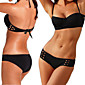Women's Bandeau Bikinis , Solid Padded Bras Spandex / Modal Black 3204