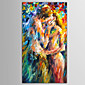 Hand-Painted People / Abstract PortraitModern / European Style One Panel Canvas Oil Painting For Home Decoration 3204