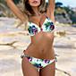 Womens Sexy Floral Brazilian Triangle Bikini Set 3204