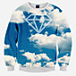 Men's Long Sleeve Hoodie  Sweatshirt,Cotton Print 3204