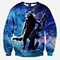 Men's Long Sleeve Hoodie  Sweatshirt,Polyester Print 3204