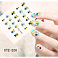 1pcs  Water Transfer Nail Art Stickers Flower Cat Mouse Small Yellow Minions Nail Art Design STZ16-20 3204