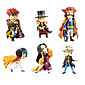 One Piece Anime Action Figure 8CM Model Toy Doll Toy(6 Pcs) 3204