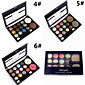 Professional 2in1 12 Glitter Shimmer Color Eyeshadow2 Blush Neutral Nude Eye Shadow Cosmetic Makeup Palette Set 3204