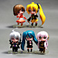 Lovely Hatsune Miku 5 PCS  Model Doll Toys Sets Anime(PP Bag Packaging) 3204
