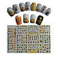 11pcs  New  Cartoon  Lovely  Small  Yellow Doll Minions  Water Transfer Nail Art Stickers STZ075-085 3204