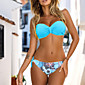 Womens Sexy Halter Floral Push UP Bikini Set 3204