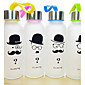 1PC Creative Beard Frosted Glass 300 Ml Outdoor Sports Portable Water Bottle (Random Style) 3204