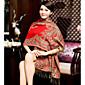 Warm Autumn And Winter Scarves Korean Female National Wind Phoenix Noble Embroidery Jacquard Fringed Oversized Shawl 3204