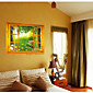 731 3D Nature Scenery through the Wall Stickers Jurassic Park Home DIY  Decoration Cartoon Living Room Wall Decal 3204