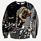 Men's Long Sleeve Hoodie  Sweatshirt,Cotton Print 3204