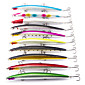 Lot 10Pcs Minnow Fishing Lure 18cm 26g Plastic Deep Sea Fishing Bait Floating Lure Tackle VMC Hook 3204